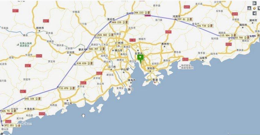 """汕湛高速公路是广东省高速公路网规划的""""二横""""线的一段,是珠三角通往"""