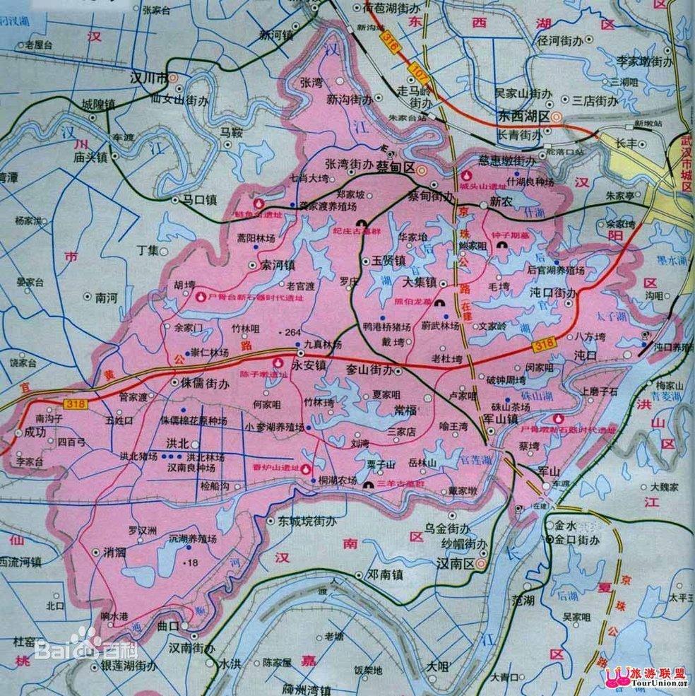 青岛市南区火车站景点地图