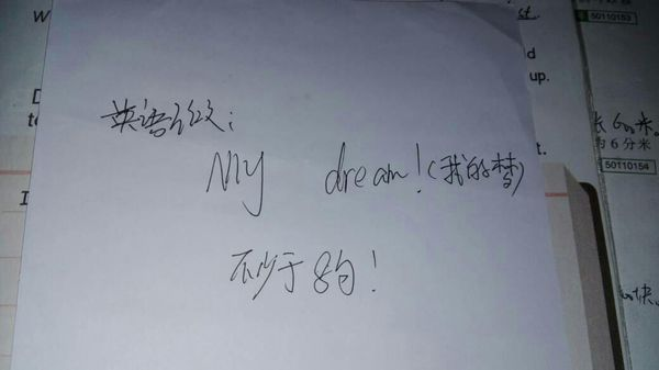 英语作文,我的梦,注意,不是梦想啊