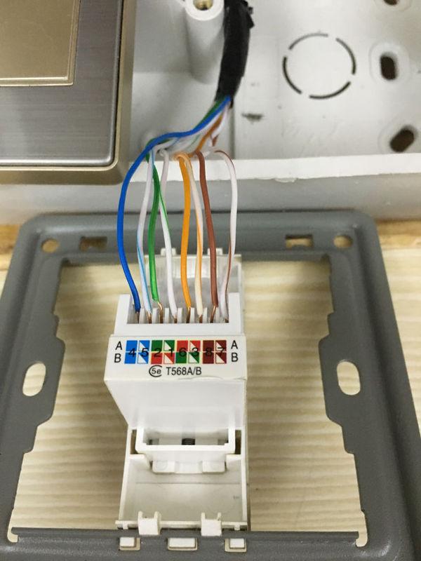 网线插座和弱电箱的水晶头怎么接_360问答
