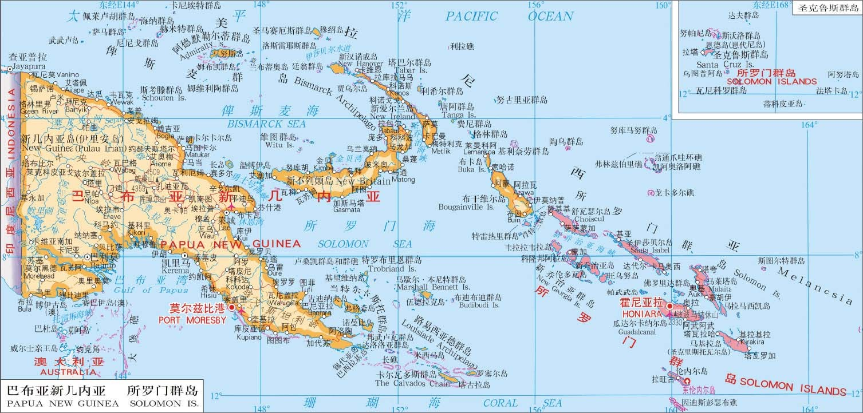 属美拉尼西亚群岛.