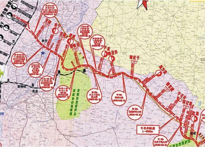 山西铁路交通地图