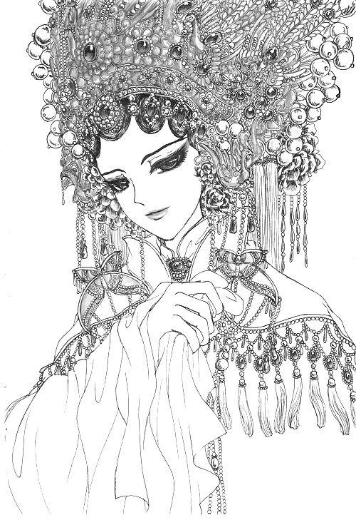求推荐手绘唯美京剧花旦的图片,我要临摹,所以简单一些,不要太复杂