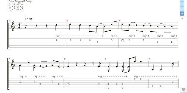 这个图吉他和弦怎么看 左上角的字母什么意思 音符下面数字什么意思