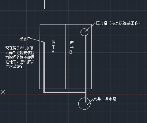 两个压力罐与一个水泵连接图?还有其他供水方式吗?