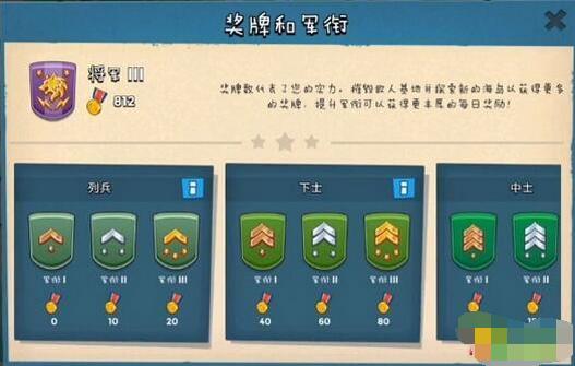[海岛奇兵] 《海岛奇兵》军衔玩法攻略 详解怎么玩