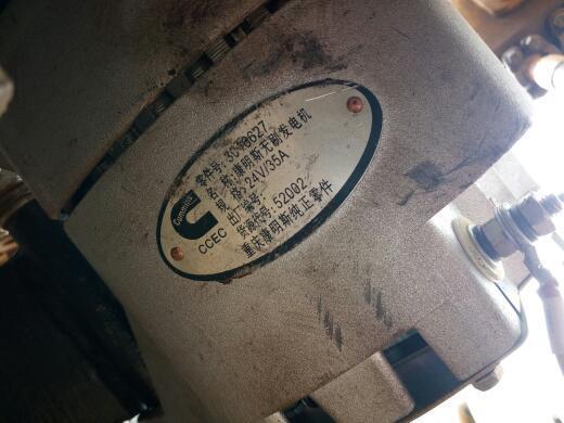 康明斯无刷发电机 有两根接线柱,一个R 一个bo