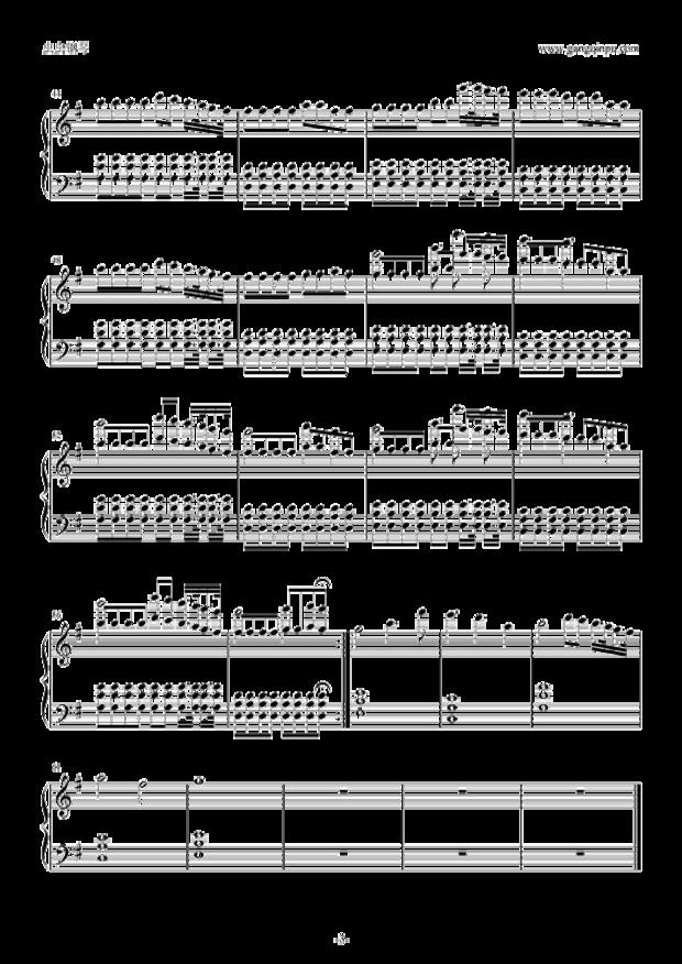 求faded钢琴五线谱