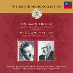 britten: serenade for tenor, horn & strings/walton: façade