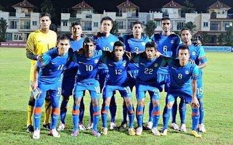 印度国家男子足球队图片