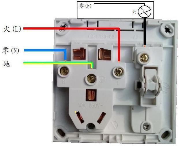 公牛 开关与插座合并的怎么接线?