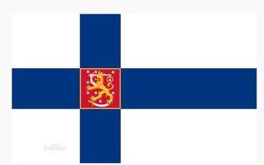"""芬兰国旗名为""""蓝色十字""""旗(芬兰语:siniristilippu),1818年5月正式定"""