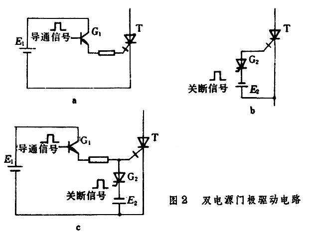 晶闸管的导通条件和关断电路图